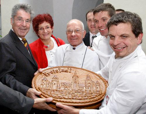 Bundespräsident Fischer auf Kurzbesuch in Freistadt bei Lubinger